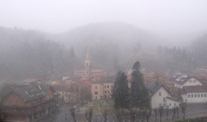 NEVICATE in arrivo nell'ENTROTERRA SAVONESE, quota neve in calo a 700-800 metri